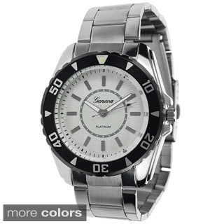 Geneva Platinum Men'sTachymeter Link Watch