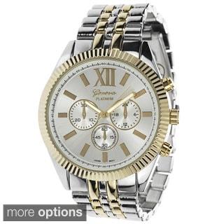 Geneva Platinum Women's Polished Link Watch