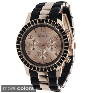 Geneva Platinum Women's Link Japanese Quartz Watch