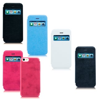 Gearonic iPhone 5C View Flip PU Leather Back Case