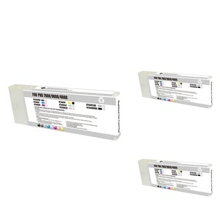 INSTEN Epson T544400 Yellow Cartridge Set (Remanufactured) (Pack of 3)