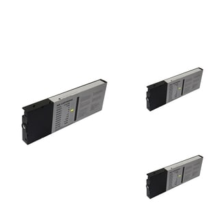 INSTEN Epson T6064Y 220ml Yellow Cartridge Set (Remanufactured) (Pack of 3)