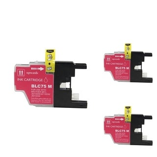 INSTEN Magenta Cartridge Set for Brother LC-71 (Pack of 3)