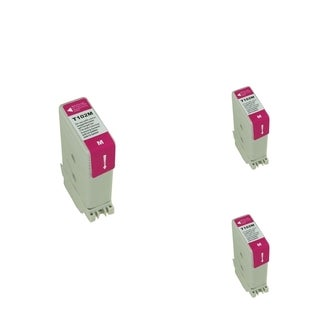 BasAcc Magenta Cartridge Set Compatible with Canon PFI102M (Pack of 3)