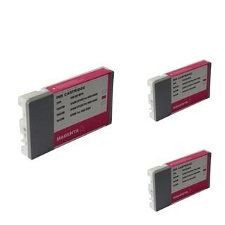 INSTEN Epson T6033M 220ml Magenta Cartridge Set (Remanufactured) (Pack of 3)
