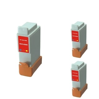 BasAcc Color Cartridge Set Compatible with Canon BCI-24C (Pack of 3)