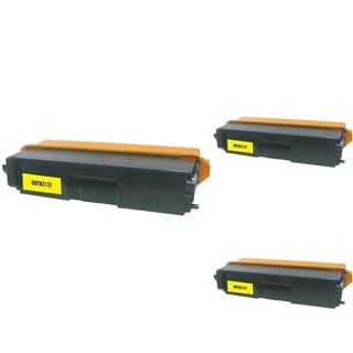 INSTEN Yellow Cartridge Set for Brother TN310 (Pack of 3)