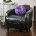 Christopher Knight Home Pamela Channeled Brown Leather Club Chair