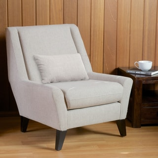 Naomi Beige Fabric Accent Chair