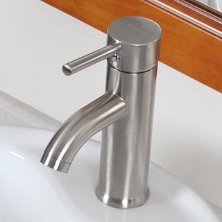 CAE Luxury Short Brushed Nickel Single Handle Bathroom Lavatory Faucet