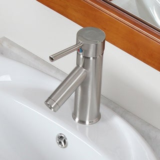 Elite Luxury Short Brushed Nickel Lavatory Faucet