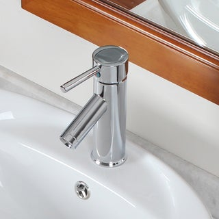 Elite Luxury Short Chrome Lavatory Faucet/ Downward Spout