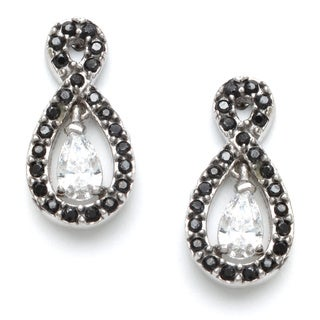 Sunstone Sterling Silver Pear Earrings Made with Swarovski Zirconia