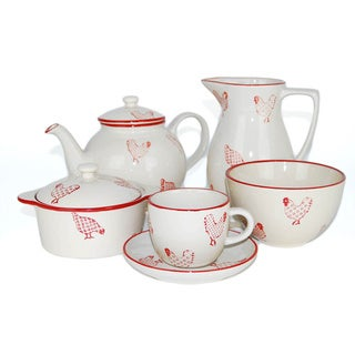 19-piece Barnyard Coffee Set