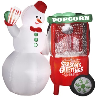 Animated Inflatable Snowman/ Popcorn Machine