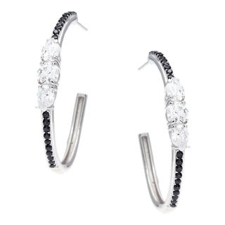 Sunstone Sterling Silver Hoop Earrings Made with Swarovski Zirconia