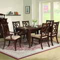 Solana 7-piece Brown Finish Dining Set
