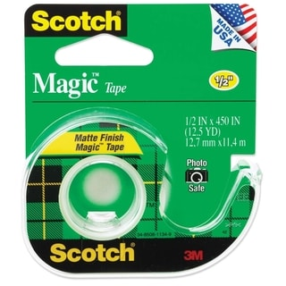 "Scotch Magic Tape w/Refillable Dispenser 1/2"" x 450"" Clear"