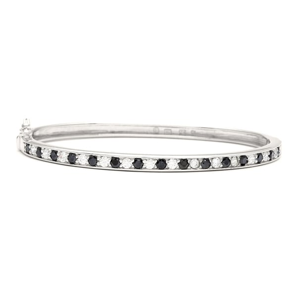 Sunstone Sterling Silver Bangle Bracelet made with Swarovski Zirconia with Gift Box