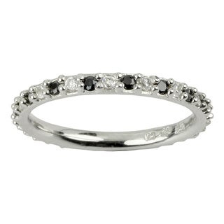 Sunstone Sterling Silver Eternity Ring made with Swarovski Zirconia (Size 7) with Gift Box