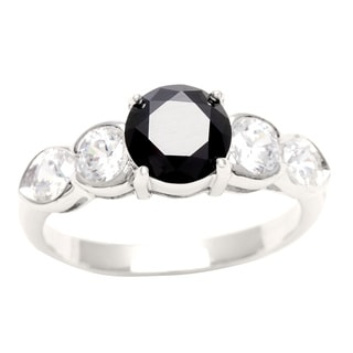 Sunstone Sterling Silver Ring made with Swarovski Zirconia (Size 7) with Gift Box