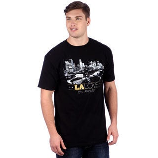 CYL Apparel Men's 'LA Skyline' T-shirt