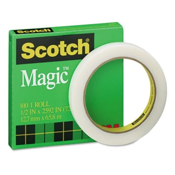 "Scotch Magic Office Tape 1/2"" x 72 yards 3"" Core Clear"
