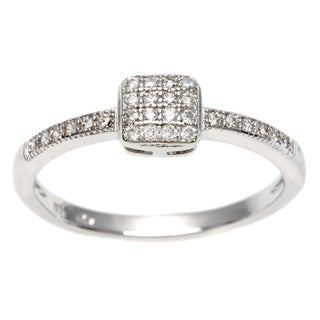 Sterling Essentials Silver Pave Cubic Zirconia Stackable Ring