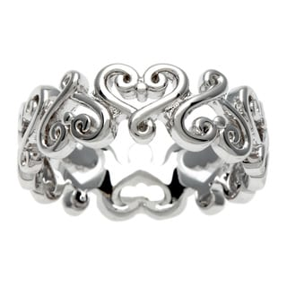 Sterling Essentials Silver Renaissance Heart Ring