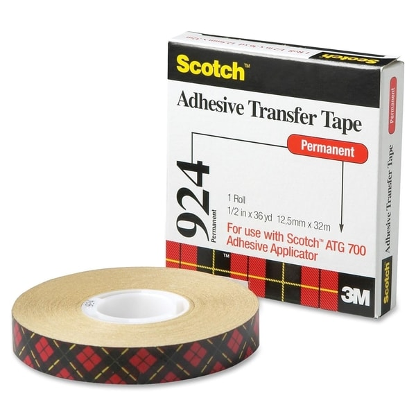 Scotch Adhesive Transfer Tape 1/2 Wide x 36 Yards