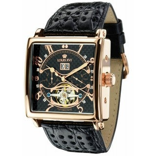 Louis XVI Men's 'La Bastille' Automatic Goldtone/ Black Watch