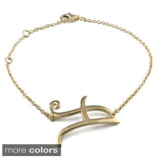 Sterling Essentials 14k Gold over Silver Initial Bracelet