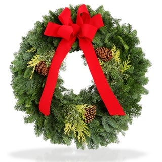 Fresh Evergreen 20-inch Holiday Wreath