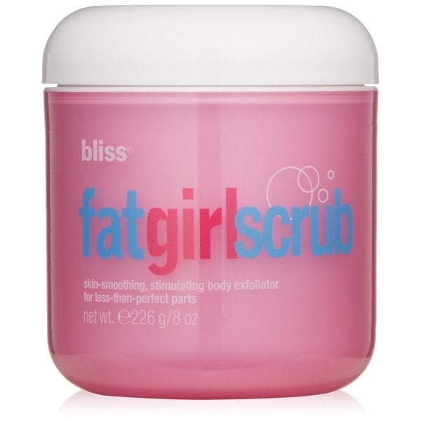 Bliss Fat Girl Scrub Skin Smoothing Stimulating 8-ounce Body Exfoliator for Less Than Perfect Parts