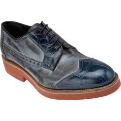 Men's Mauri M784 Wonder Blue Calfskin/Alligator