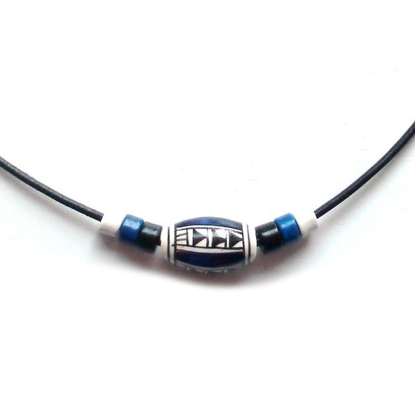 Every Morning Design Geometric Peruvian Bead Necklace