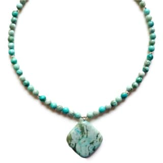 Every Morning Design Turquoise Jasper Pendant Necklace