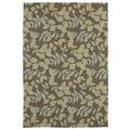 Fiesta Chocolate Indoor/ Outdoor Leaves Rug (3'0 x 5'0)