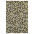 Fiesta Chocolate Indoor/ Outdoor Leaves Rug (5'0 x 7'6)