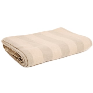 Calla Cream Alpaca Throw Blanket (Ecuador)