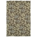 Fiesta Chocolate Indoor/ Outdoor Leaves Rug (2'0 x 3'0)