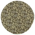 Fiesta Chocolate Indoor/ Outdoor Leaves Rug (7'9 Round)