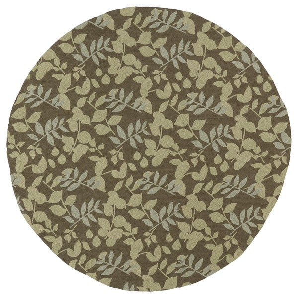 Paula Deen Home & Porch Wymberly Round Rug - Coffe
