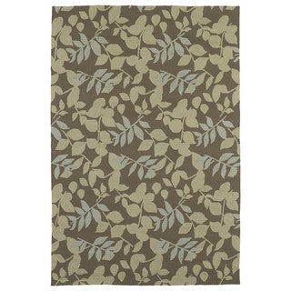 Fiesta Chocolate Indoor/ Outdoor Leaves Rug (7'6 x 9'0)