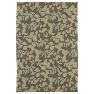 Fiesta Chocolate Indoor/ Outdoor Leaves Rug (9'0 x 12'0)