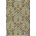 Fiesta Brown Indoor/ Outdoor Damask Rug (5'0 x 7'6)