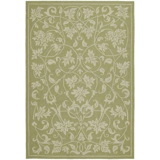 Fiesta Avocado Indoor/ Outdoor Scroll Rug (3'0 x 5'0)