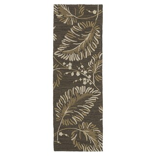 Fiesta Chocolate Indoor/ Outdoor Palms Rug (2'0 x 6'0)