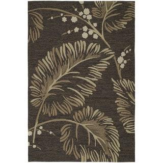 Fiesta Chocolate Indoor/ Outdoor Palms Rug (5'0 x 7'6)