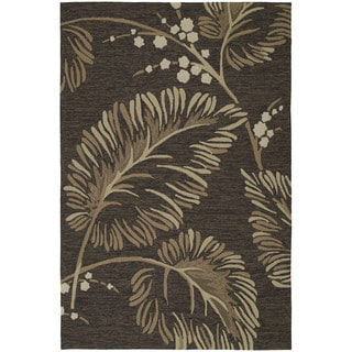 Fiesta Chocolate Indoor/ Outdoor Palms Rug (7'6 x 9'0)